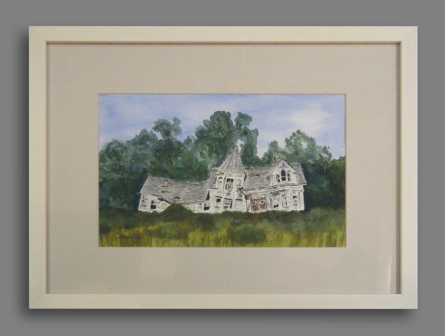 """Derelict Maine Homestead"" by Clarence Yates"