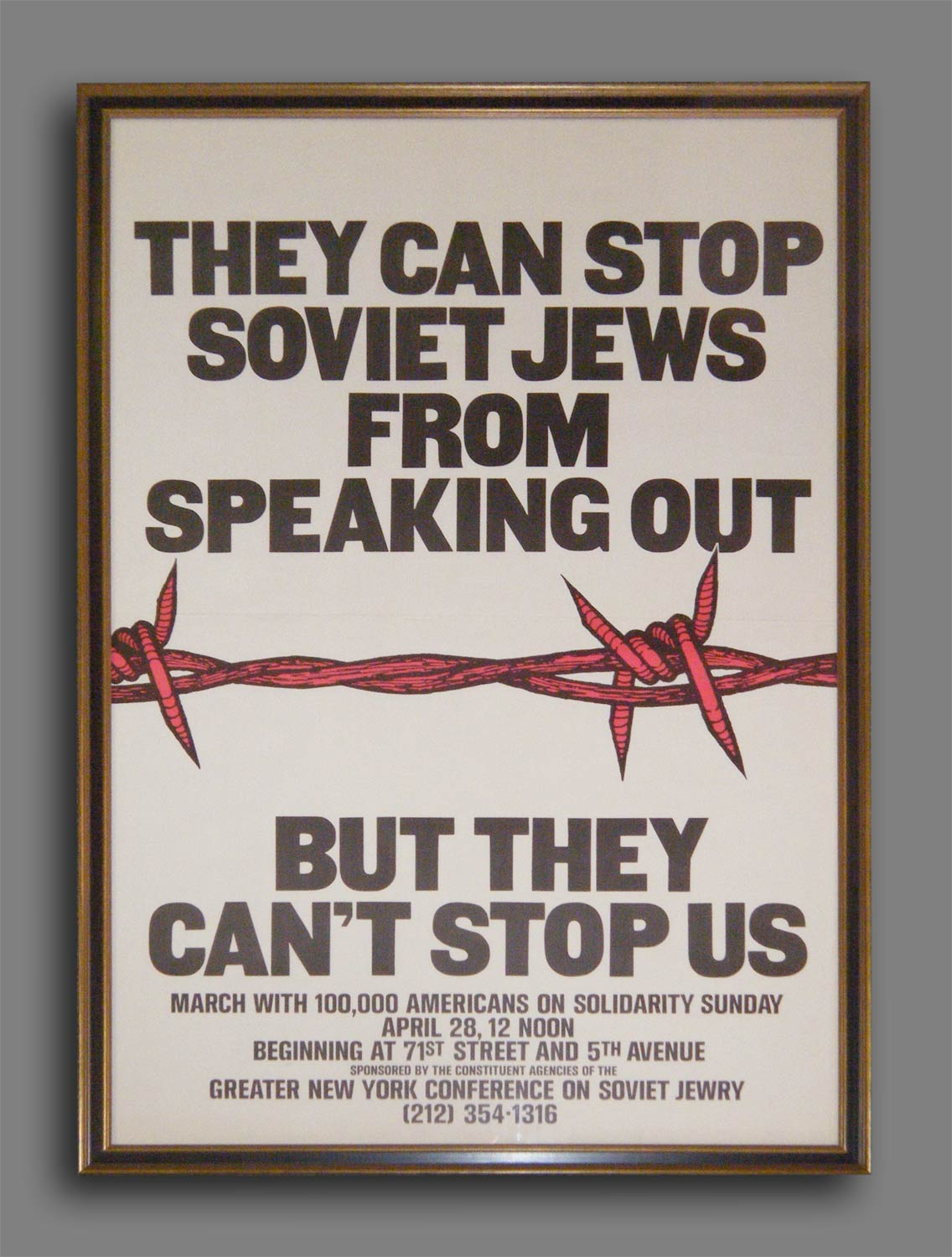 """Soviet Jews"" - New York Solidarity Poster"