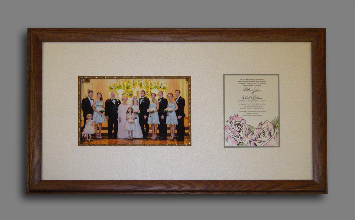 Wedding Photo with Invite