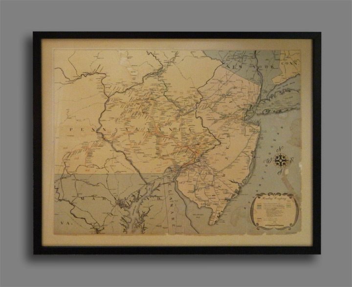Railroad Map Custom Picture Framer of Glenside