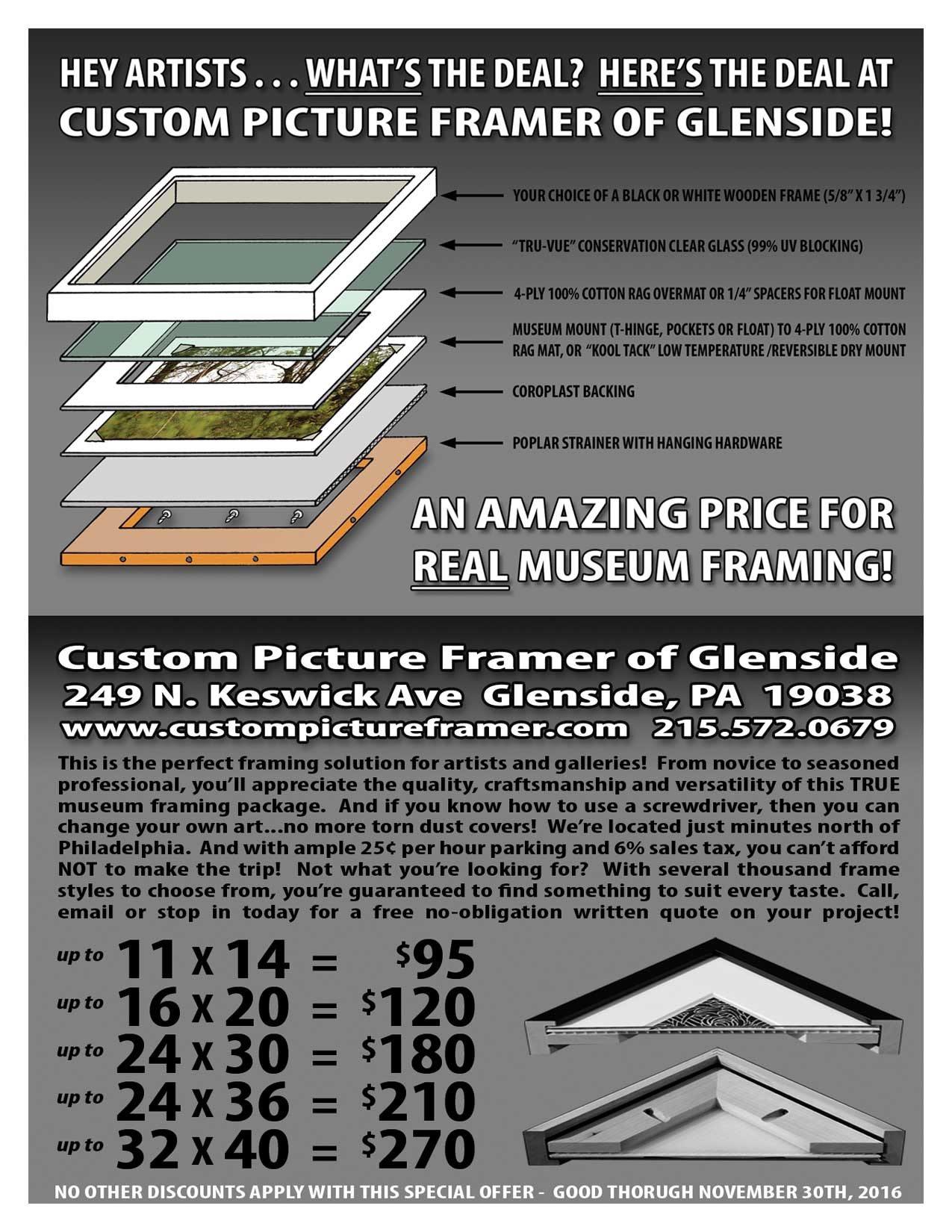 Special promotion for custom strainer reinforced frame