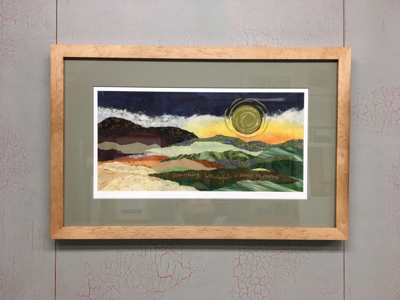 Melissa G Olson Limited Edition Print Custom Framed in Jonah's Birds Eye Maple