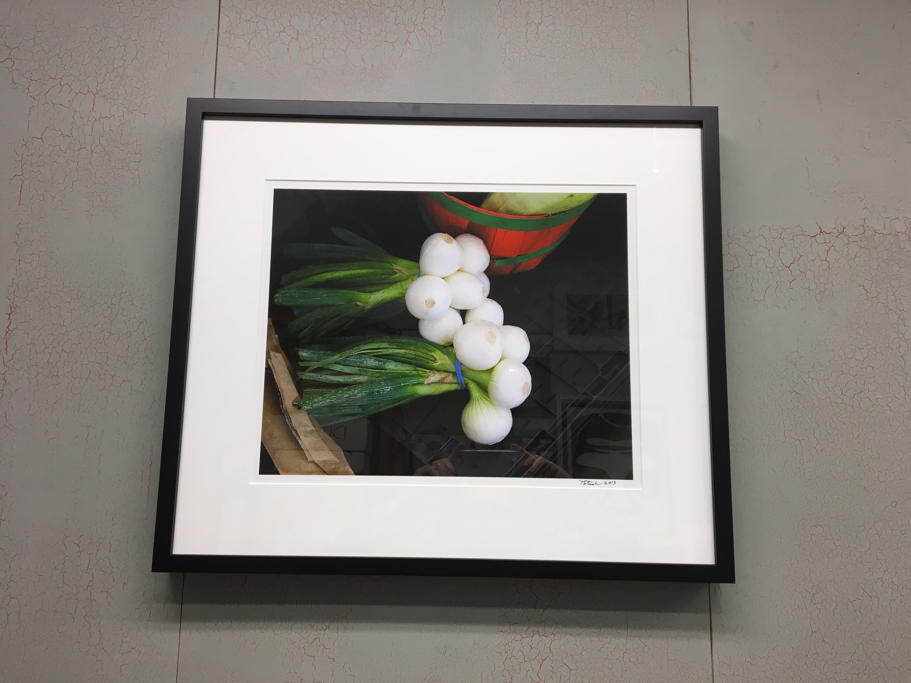 """Onions"" Photo in our Archival and Easily Changeable Gallery Framing Package"