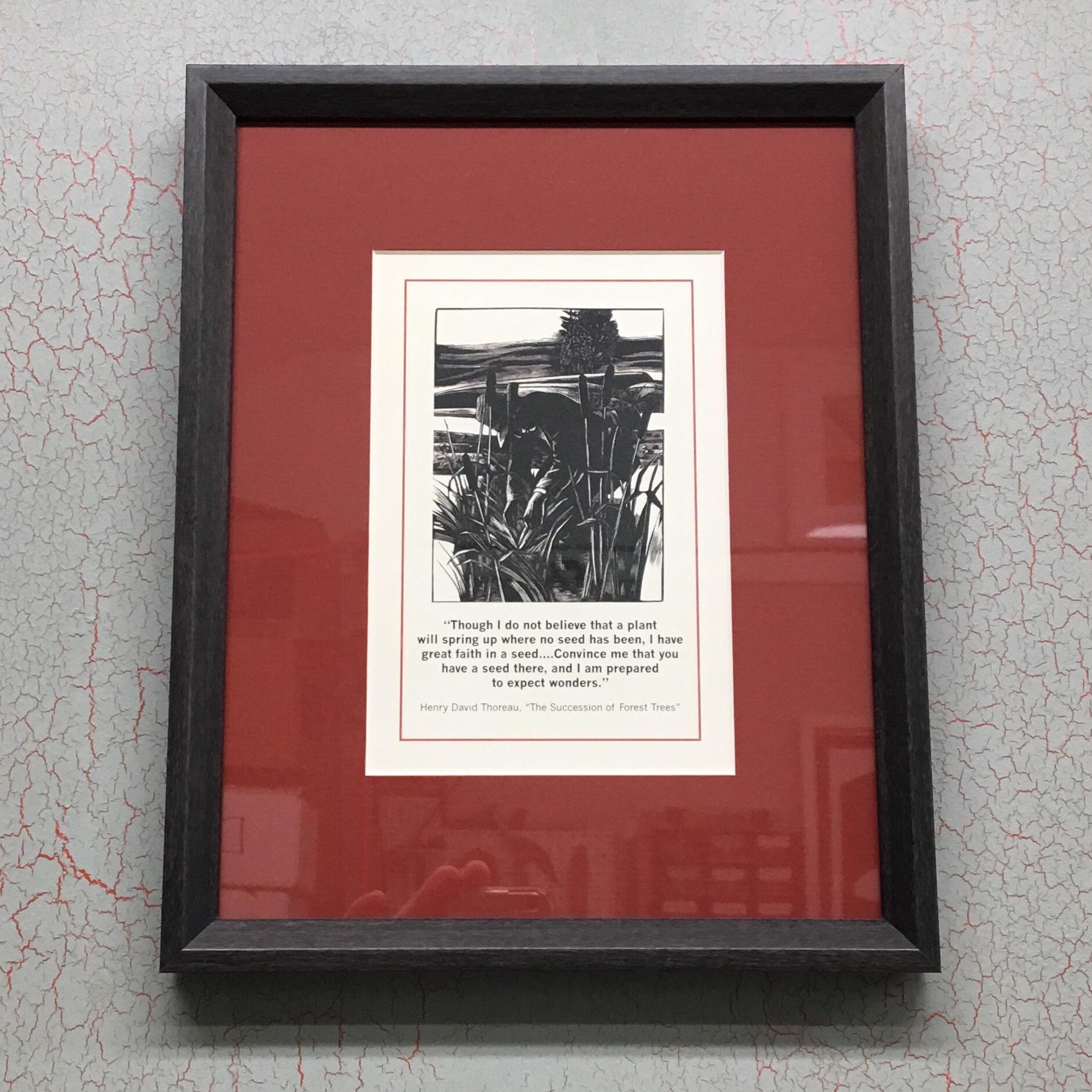 "Thoreau Print in Larson Juhl's ""Finn"" Collection - a Thoughtful Graduation Gift!"