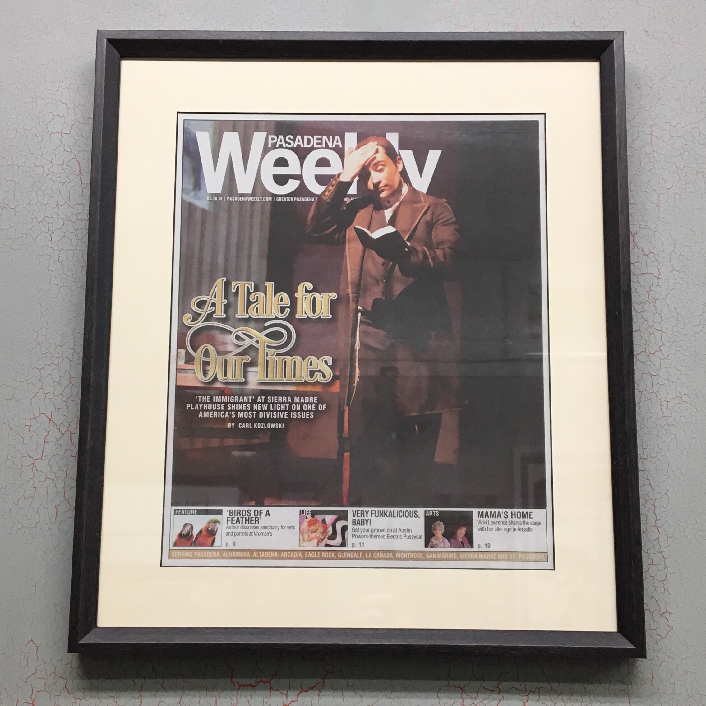 Featured in your local weekly paper? Get it custom framed, and take a bow! We located in Keswick Village (Glenside - 19038), and serve the Philadelphia area.