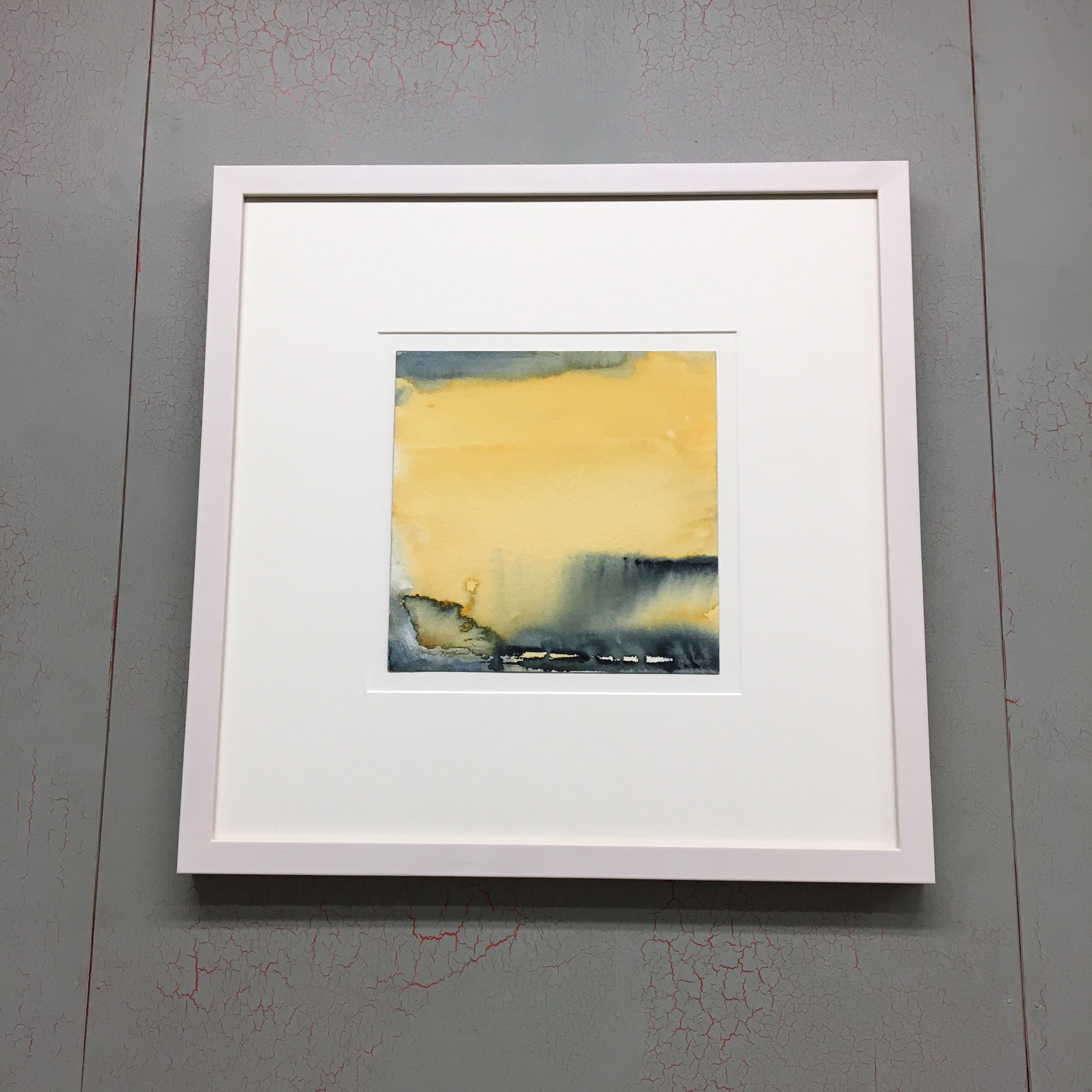 Original Watercolor by Sandra Hoffman Float Mounted and Custom Framed in a Whitewash Maple Moulding Sourced and Milled in Pennsylvania. See more framing options at our Keswick Village showroom just north of Philadelphia in Glenside PA ( Pennsylvania ) , 19038 . Thousands of frame styles, prints, maps, limited editions, and more!