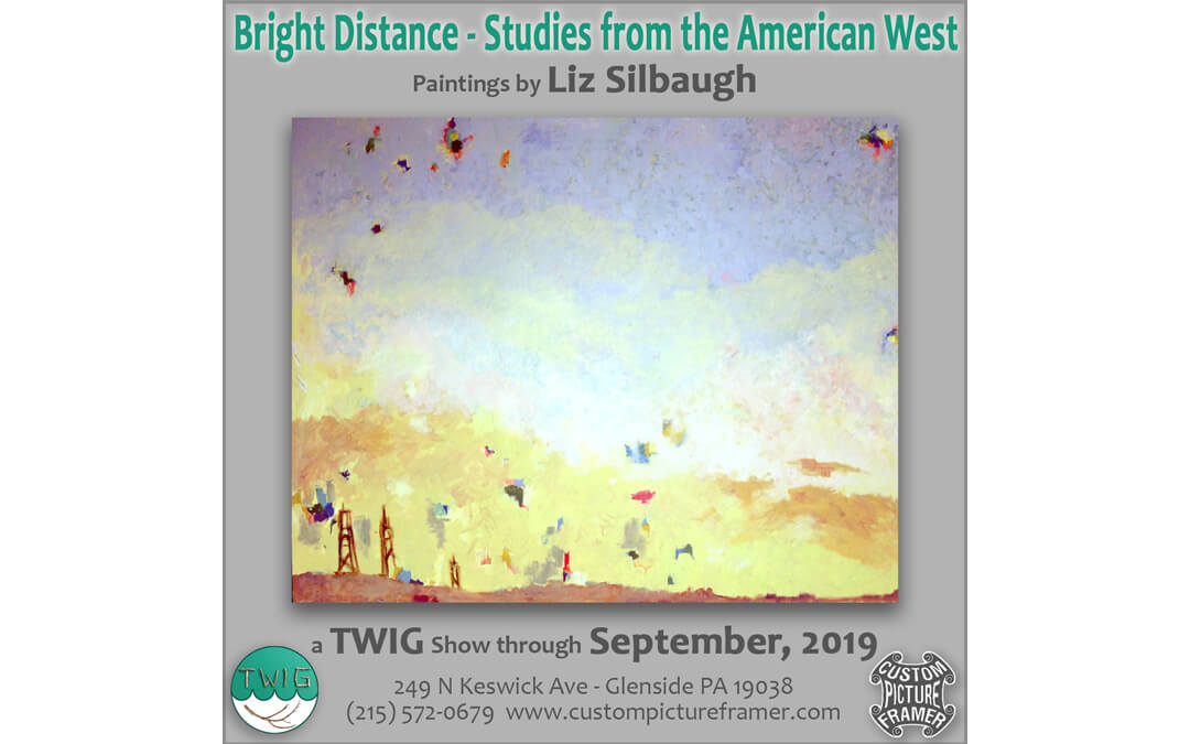 """Bright Distance – Studies from the American West"" Paintings by Liz Silbaugh – a T.W.I.G. display through September, 2019"