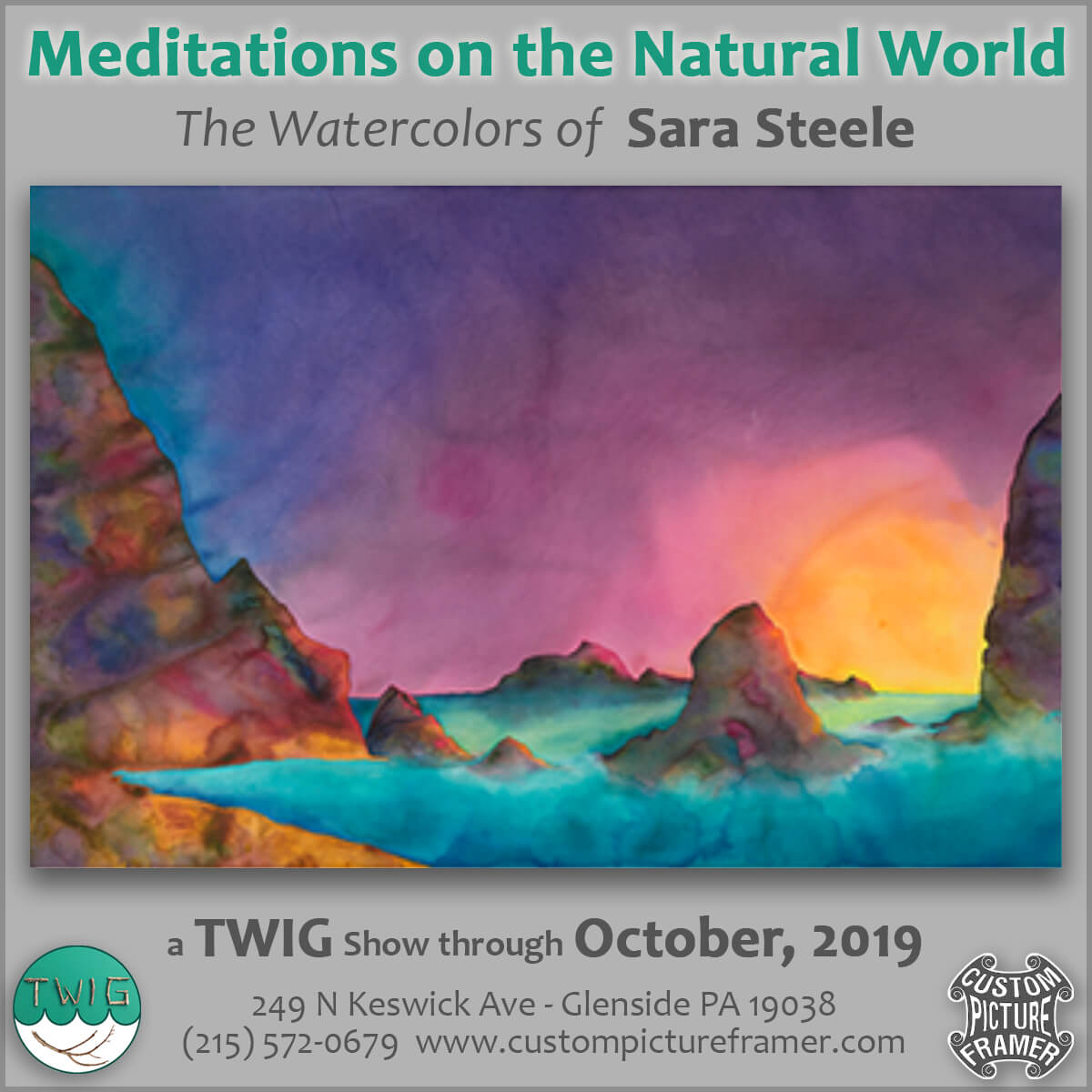 Meditations on the Natural World - The Watercolors of Sara Steele @ Custom Picture Framer